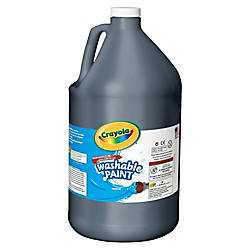 Crayola Washable Paint Black Gallon
