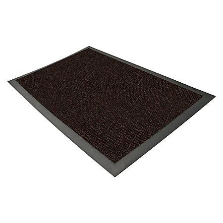 Genuine Joe Ultraguard Indoor Wiper/Scraper Floor Mat, 4' x 6', Chocolate