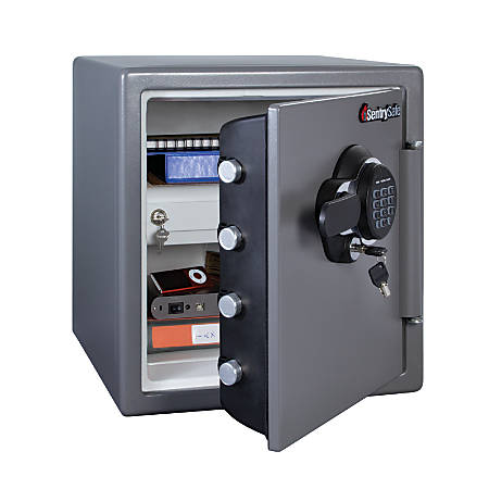 Sentry Safe Electronic Fire 1 23 Cubic Foot Capacity Gunmetal
