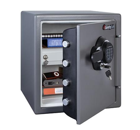 Sentry®Safe Electronic Fire Safe®, 1 23 Cu Ft Capacity, Gunmetal Item #  219818
