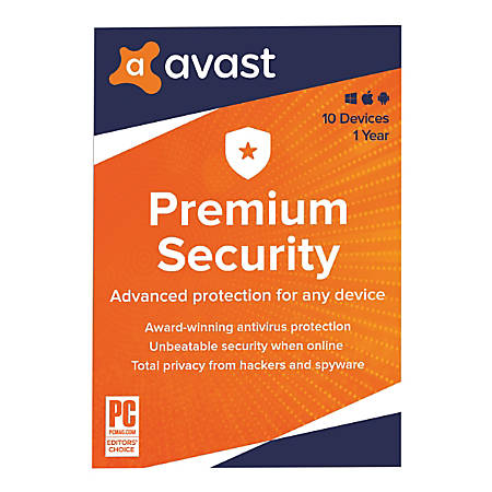 Avast Premium Security 2020, For PC/Mac, Traditional Disc