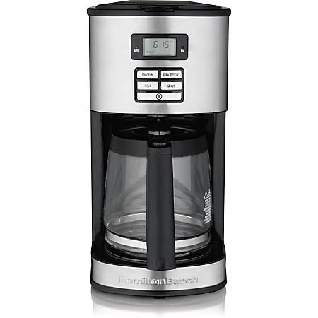Hamilton Beach 12 Cup Programmable Coffeemaker (49618) - Programmable - 12 Cup(s) - Multi-serve - Coffee Strength Setting - Yes - Metallic - Stainless Steel, Plastic