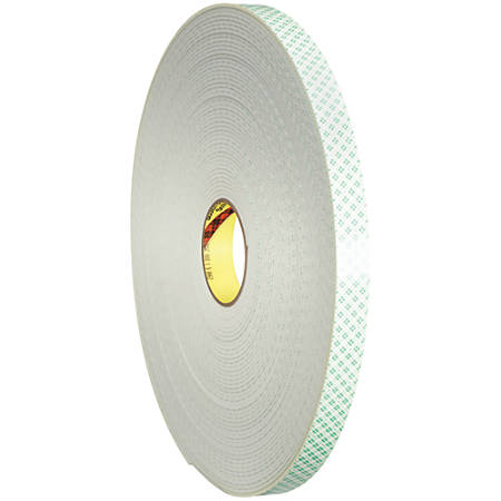 "3M™ 4008 Double-Sided Foam Tape, 3"" Core, 2"" x 36 Yd., Natural"