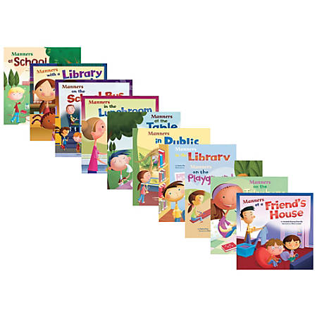 Capstone Way to Be! Manners Books, Pre-K - Grade 2, Set Of 10