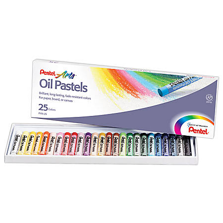 Pentel Arts® Oil Pastels, 25-Color Set