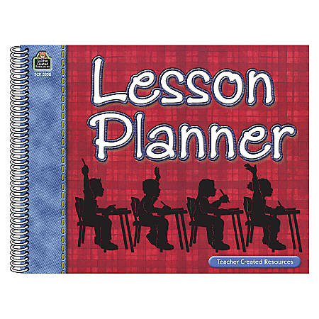 Teacher Created Resources Large Plaid Lesson Plan Books, Pack Of 3