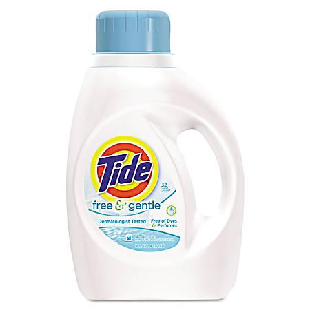 Tide® Free & Gentle Liquid Laundry Detergent, 50 Oz, Pack Of 6 Bottles