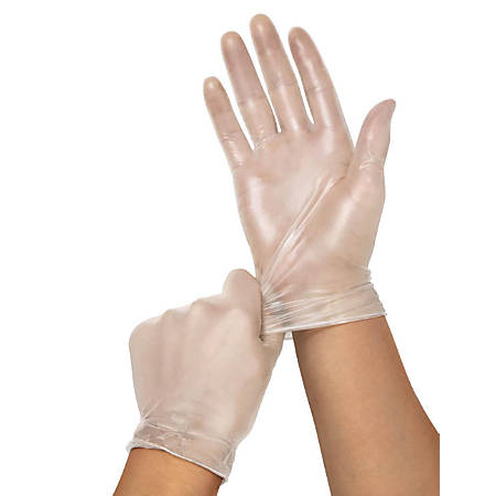 Clear-Touch Powder-Free Vinyl Multipurpose Gloves, X-Large, Clear, 130 Gloves Per Box, Case Of 10 Boxes