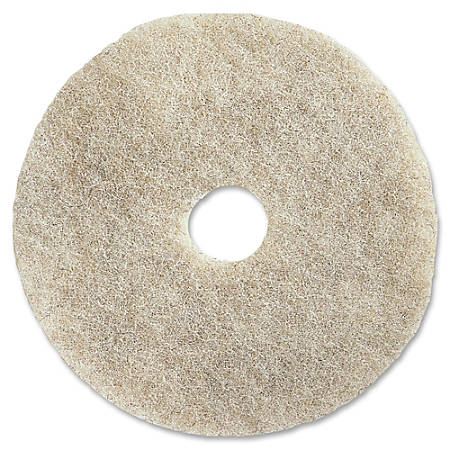 "Impact Products 27"" Natural Floor Pad - 27"" Diameter - 5/Carton x 27"" Diameter x 1"" Thickness - Fiber - Natural"