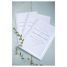 Gartner Studios Wedding Programs Half Fold
