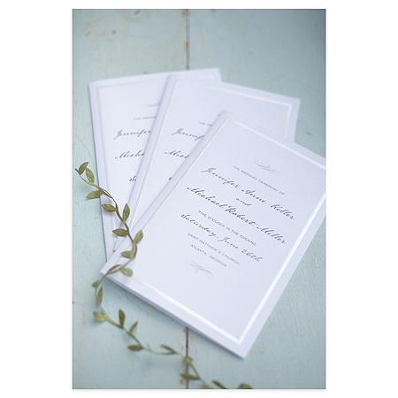 Gartner Studios Wedding Programs Half Fold 8 12 X 11 Pearl White Border Pack Of 50 By Office Depot Officemax
