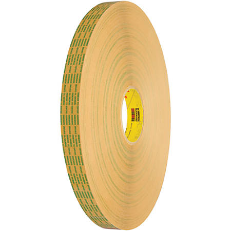 """Scotch® 465XL Adhesive Transfer Tape, 3"""" Core, 0.5"""" x 60 Yd., Clear, Case Of 6"""