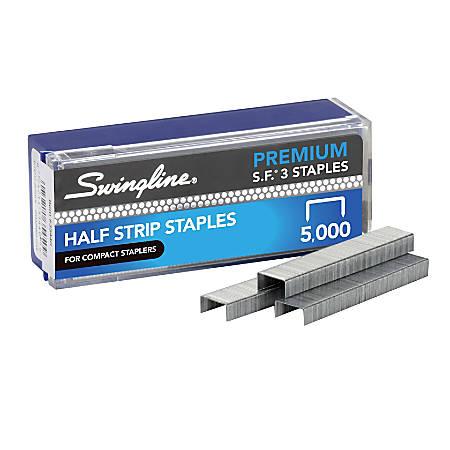 "Swingline® S.F.® 3 Premium Staples, 1/4"" Half Strip, Box Of 5,000"