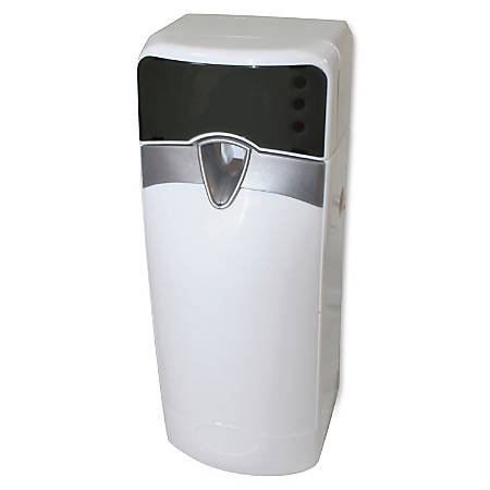 Impact Products Sensor Metered Aerosol Dispenser - 0.08 Hour, 0.25 Hour, 0.42 Hour - 2 x D Battery - 12 / Carton - White