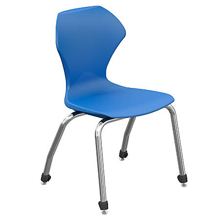 """Marco Group™ Apex™ Series Stacking Chairs, 18"""" Seat Height, Blue/Chrome, Set Of 4"""