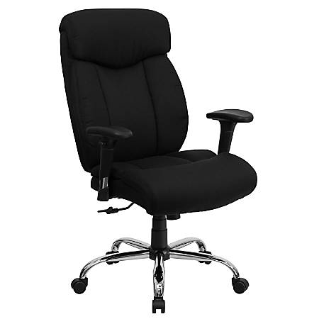 Flash Furniture HERCULES Big & Tall Fabric High-Back Swivel Office Chair With Adjustable Arms, Black