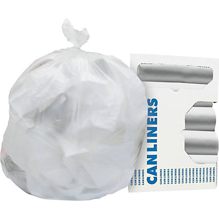"""Heritage Heavy-guage 0.6mil Can Liners - 4 gal - 17"""" Width x 18"""" Length x 0.24 mil (6 Micron) Thickness - High Density - Natural - High-density Polyethylene (HDPE) - 2000/Carton - Can"""