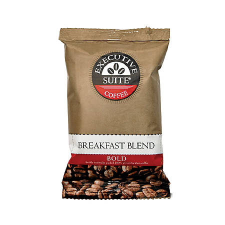Executive Suite® Breakfast Blend Bold Coffee Packets, 1 Oz, Box Of 42
