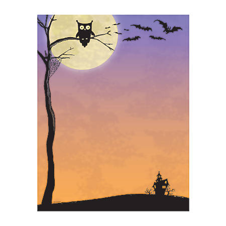 """Great Papers!® Holiday-Themed Letterhead Paper, 8 1/2"""" x 11"""", Halloween Who, Pack Of 80 Sheets"""