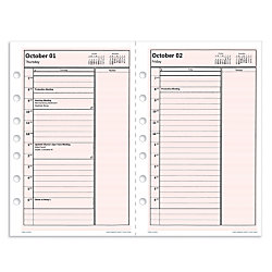 """Day-Timer® Print Your Own Pages Planner Refill, 5 1/2"""" x 8 1/2"""", Pink"""