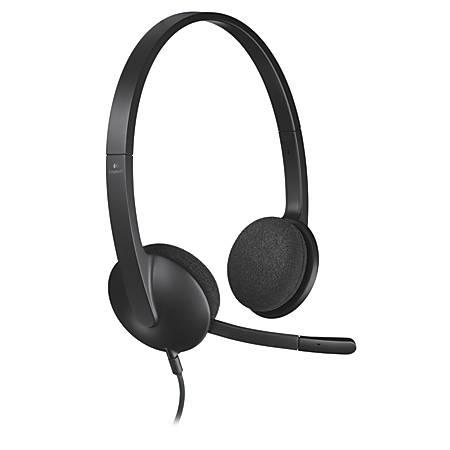 Logitech® H340 USB Headset, Black