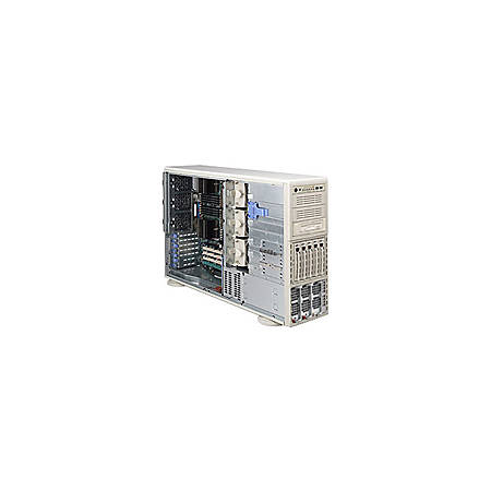 Supermicro A+ Server 4041M-82R Barebone System - nVIDIA MCP55 Pro - Socket F (1207) - Opteron (Quad-core), Opteron (Dual-core) - 1000MHz Bus Speed - 64GB Memory Support - Gigabit Ethernet - 4U Tower