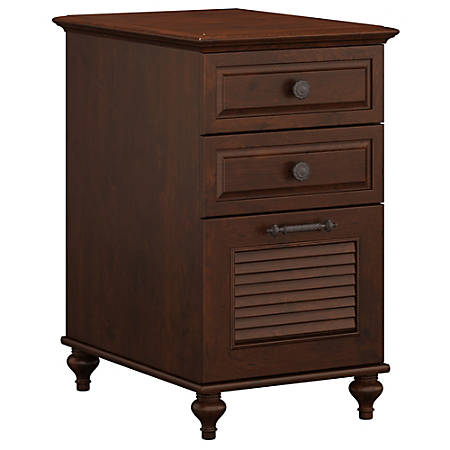 kathy ireland® Office by Bush Furniture Volcano Dusk 3 Drawer File Cabinet, Coastal Cherry, Standard Delivery