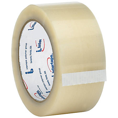 "Tape Logic™ 800 Hot Melt Tape, 3"" Core, 2"" x 55 Yd., Clear, Case Of 36"