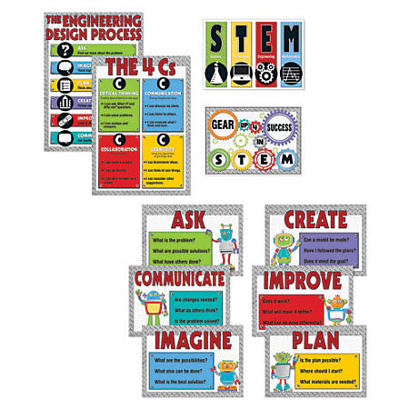 Carson-Dellosa STEM Bulletin Board Set, Multicolor, Grades K-5