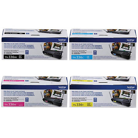Brother® TN-336 High-Yield 4-Color Toner Cartridge Set