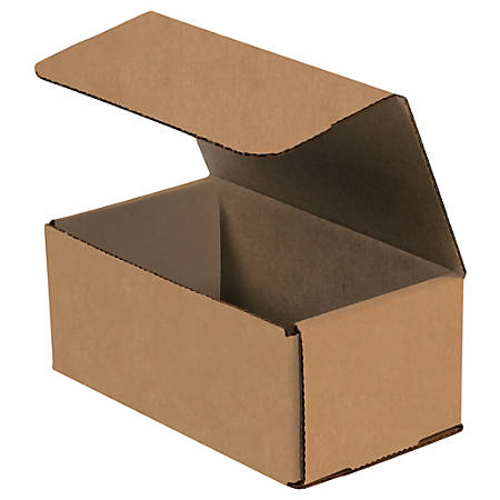 """Office Depot® Brand Corrugated Mailers, 7"""" x 4"""" x 3"""", Kraft, Pack Of 50"""