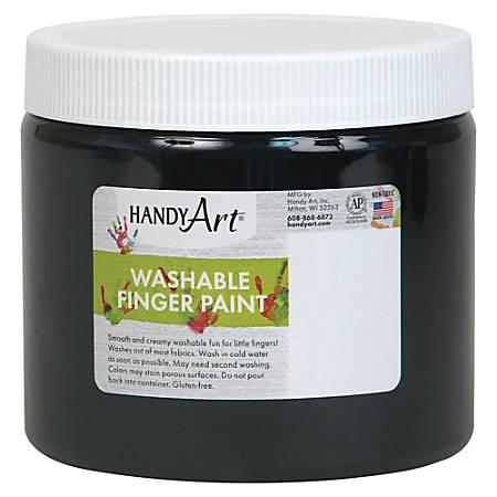 Handy Art Washable Finger Paint - 16 fl oz - 1 Each - Black
