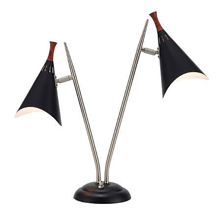 """Adesso® Draper Desk Lamp, 22""""H, Black"""