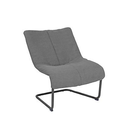 Serta Style Alex Lounge Chair, Medium Gray/Black