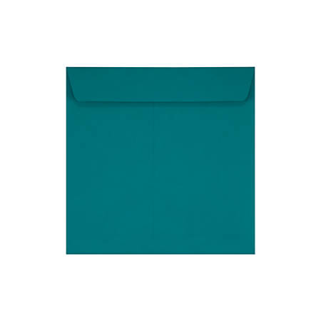 "LUX Square Envelopes With Peel & Press Closure, 7 1/2"" x 7 1/2"", Teal, Pack Of 250"