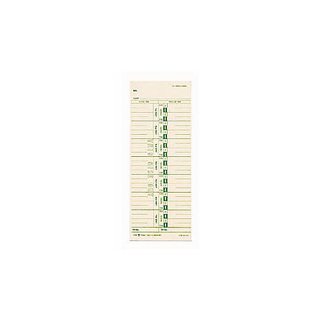 "TOPS® Time Cards (Replaces Original Card 10-800292), Numbered Days, 1-Sided, 9"" x 3 1/2"", Box Of 500"