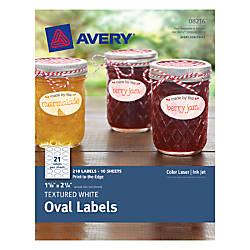 Avery Textured Oval Labels 1 18