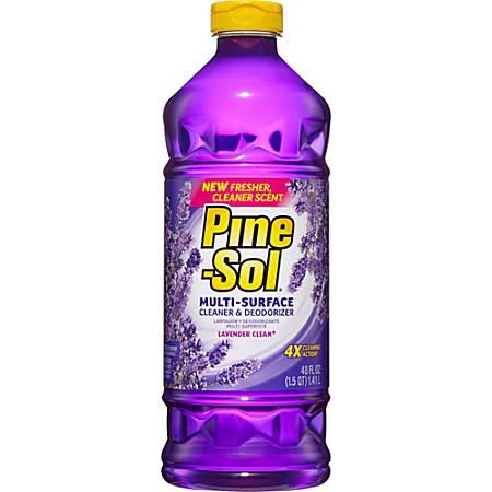 Pine-Sol Multi-Surface Cleaner - 0.38 gal (48 fl oz) - Lavender Scent - 8 / Carton - Purple