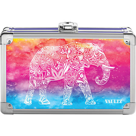 "Vaultz Locking Pencil Box, 8 1/4"" x 2 1/2"" x 5"", Assorted Colors"