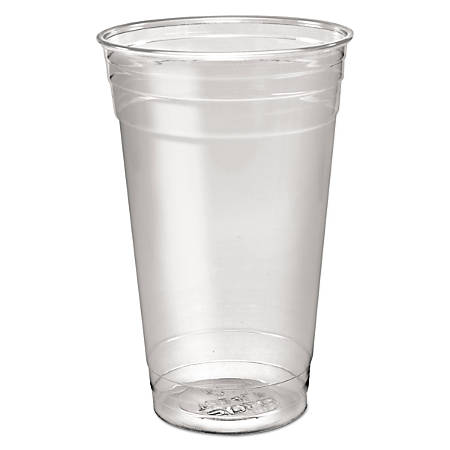 SOLO® Cup Company Ultra Clear™ PET Cold Cups, 24 Oz, Clear, 50 Cups Per Sleeve, Carton Of 12 Sleeves