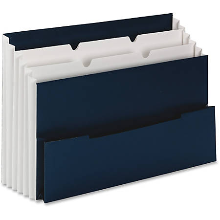 "Smead® 3-Pocket Mini Stadium File, Letter Size, 8 1/2"" x 11"", Navy Blue"