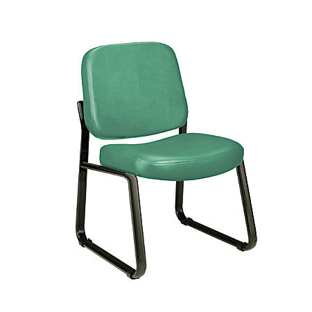 OFM Anti-Microbial Anti-Bacterial Reception Chair, Teal/Black