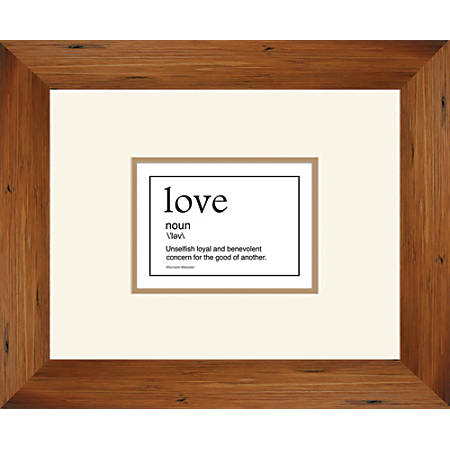 "PTM Images Expressions Framed Wall Art, Love II, 16""H x 18""W, Brown"