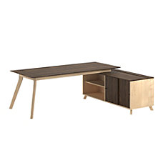 Ameriwood Home AX1 Executive Desk With
