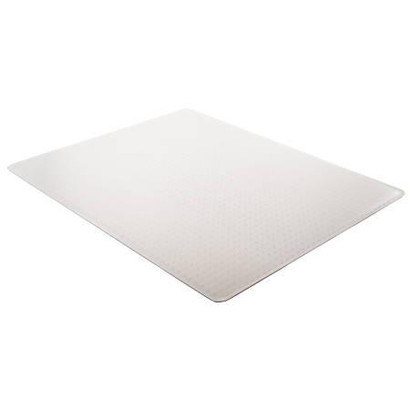 "Deflect-O DuraMat Chair Mat For Low-Pile Carpet, Rectangular, 46"" x 60"", Clear"