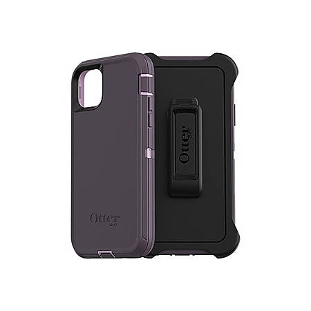 OtterBox Defender Carrying Case (Holster) Apple iPhone 11 Pro Max Smartphone - Purple Nebula - Polycarbonate Shell, Synthetic Rubber Cover, Polycarbonate Holster - Belt Clip