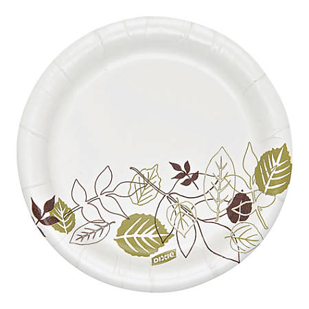 """Dixie® Heavyweight Paper Plates, 5 7/8"""", Floral Design, Pack Of 125"""