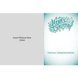 Flat Photo Greeting Card Multi Merry