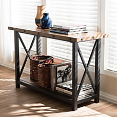 Baxton Studio Milan Console Table BrownBlack