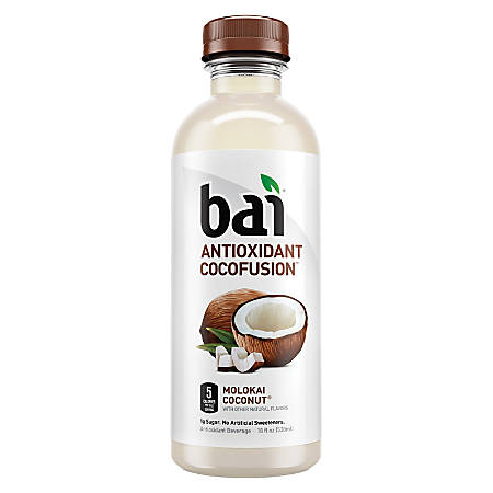Bai Molokai Coconut, 18 Oz, Pack Of 12